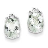 Green Quartz Earrings Sterling Silver MPN: QE9834AG