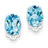 Blue Topaz Earrings Sterling Silver MPN: QE9834BT