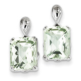 Green Quartz Earrings Sterling Silver MPN: QE9836AG