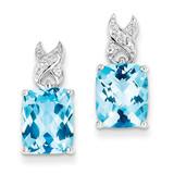 Blue Topaz Earrings Sterling Silver MPN: QE9842BT