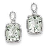 Green Quartz Earrings Sterling Silver MPN: QE9846AG