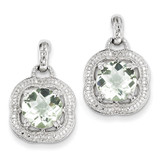 Green Quartz Earrings Sterling Silver MPN: QE9868AG