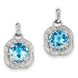 Blue Topaz Earrings Sterling Silver MPN: QE9868BT
