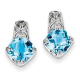 Blue Topaz Earrings Sterling Silver MPN: QE9872BT