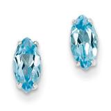 Blue Topaz Earrings Sterling Silver MPN: QE9876BT