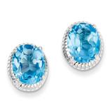 Blue Topaz Earrings Sterling Silver MPN: QE9882BT