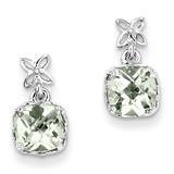 Green Quartz Earrings Sterling Silver MPN: QE9894AG