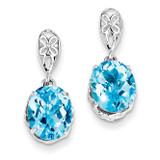 Blue Topaz Earrings Sterling Silver MPN: QE9896BT