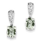 Green Quartz Earrings Sterling Silver MPN: QE9906AG