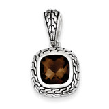 Brown Diamond Pendant Antiqued Sterling Silver MPN: QP2153
