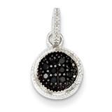 Black Diamond Round Post Pendant Sterling Silver MPN: QP2429