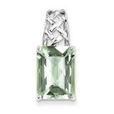 Green Quartz Pendant Sterling Silver MPN: QP2917AG