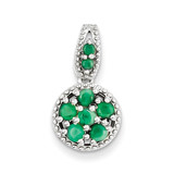 Emerald Circle Pendant Sterling Silver MPN: QP3058E