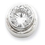 6mm Diamond Round Slide Sterling Silver MPN: QP819