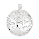 Butterfly Cut-outs Round Pend Sterling Silver MPN: QP916