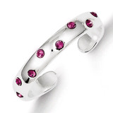 Pink Diamond Toe Ring Sterling Silver MPN: QR1921