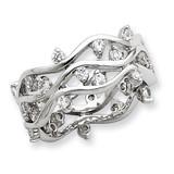 Wavy Band Sterling Silver Diamond MPN: QR2085-8