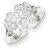 Butterfly Toe Ring Sterling Silver MPN: QR615