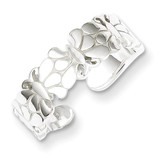 Butterflies Toe Ring Sterling Silver Polished MPN: QR766