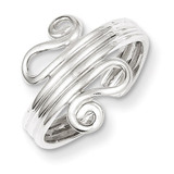 Scroll Toe Ring Sterling Silver Polished MPN: QR786