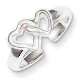 Heart Toe Ring Sterling Silver Solid MPN: QR803