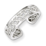 Toe Ring Sterling Silver Solid MPN: QR850