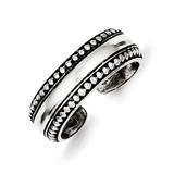 Toe Ring Antiqued Sterling Silver MPN: QR884