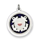 US Coast Guard Disc Charm Sterling Silver MPN: XSM146