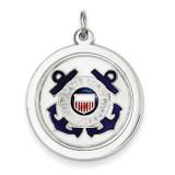 US Coast Guard Disc Charm Sterling Silver MPN: XSM147