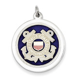 US Coast Guard Disc Charm Sterling Silver MPN: XSM148
