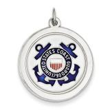 US Coast Guard Disc Charm Sterling Silver MPN: XSM149