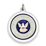 US Navy Disc Charm Sterling Silver MPN: XSM151