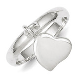 Dangle Heart Ring Sterling Silver MPN: QR1526