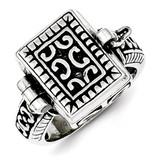 Antique Locket Ring Sterling Silver MPN: QR1764