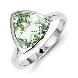 Green Quartz Ring Sterling Silver MPN: QR4465AG