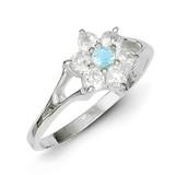 Blue Topaz Ring Sterling Silver MPN: QR705