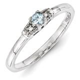 1 Birthstone Family Jewelry Diamond Semi-Set Ring 14k White Gold XMRW50/1