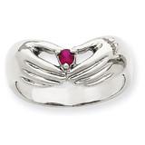 1 Birthstone Family Ring 14k White Gold XMRW51/1