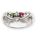 4 Birthstones Family Ring 14k White Gold XMRW51/4