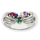 5 Birthstones Family Ring 14k White Gold XMRW51/5