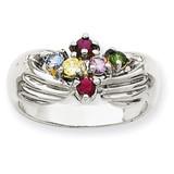 6 Birthstones Family Ring 14k White Gold XMRW51/6