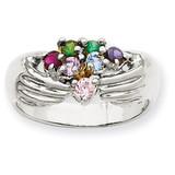 7 Birthstones Family Ring 14k White Gold XMRW51/7