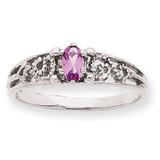 1 Birthstone Family Ring 14k White Gold XMRW52/1
