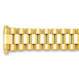 18-24mm President-Style with Deploy Link Watch Band Gold-tone BA244