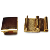 11mm Solid Brass Open Style Fold-over Clasp 11 Inch Gold-tone FTL132Y-11