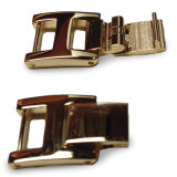 4mm x 14mm H-Clasp Stainless Steel Fold-over Extender 4 Inch Gold-tone FTL155Y-4
