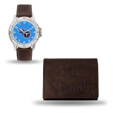 Tennessee Titans Brown Leather Watch & Wallet Set GC4876