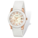 Chisel Rose IP-plated Floral Dial White Watch Strap Ladies TPW111