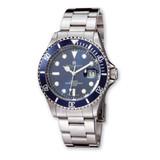 Charles Hubert Stainless Steel Blue Dial Diver Watch Men's XWA2895