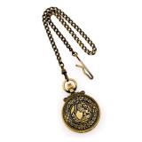 Charles Hubert Antique Gold Finish Lion Crest Pocket Watch XWA3350